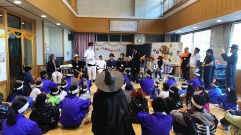 留学生と地域の小学生との交流会(ハロウィンパーティ)