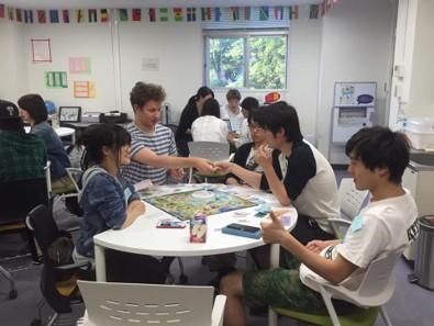 留学生によるEnglish Cafe(グローバル共創学習室G-フィロス)